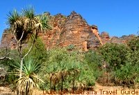 Beehive shaped sandstone formations, similar to those at Purnululu National Park.