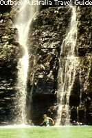 Waterfall during the wet season in Ouback Australia.