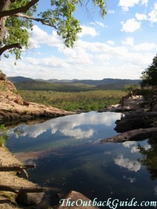 View from the top of Gunlom Falls in Kakadu National Park