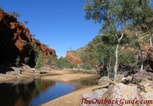 A waterhole in the West Mac Donnell Ranges