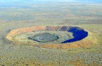 The Wolfe Creek meteorite crater.