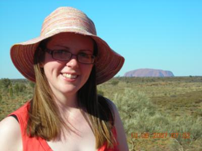 Me with Uluru in back ground