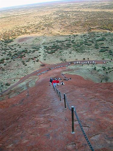 Climbing Uluru