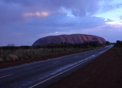 Cloudy Uluru Sunset