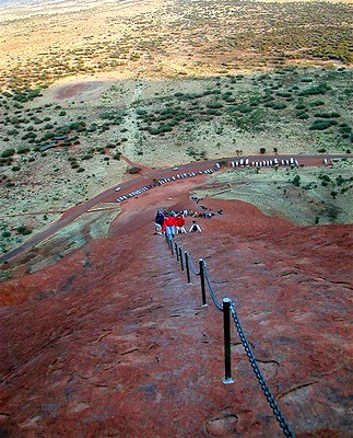 Climbers on Ayers Rock