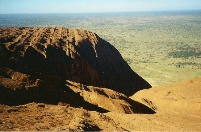 The amazing view across the top of Ayers Rock