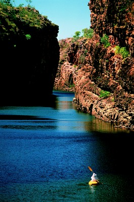 Canoe in Katherine Gorge