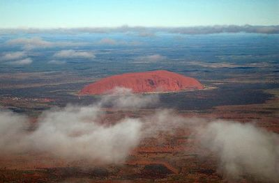 Flying to Ayers Rock