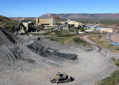 Process plant at a mine site