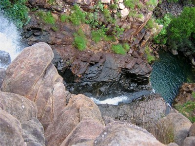 From the top of the falls, looking down into the Southern Rockhole