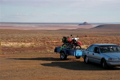 On the way to Roxby Downs where I left the car