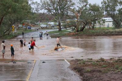 Todd River Surfer, Alice Springs
