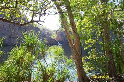The beautiful and peaceful Edith Falls near Katherine