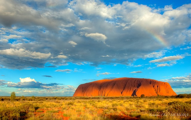 Uluru Ayers Rock Rainbow