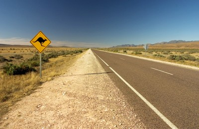 Somewhere between Sydney and Alice Springs