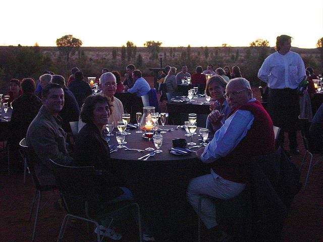 Sounds of Silence Dinner at Uluru