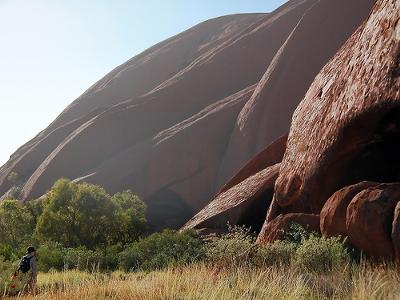 Early morning at the base of Uluru